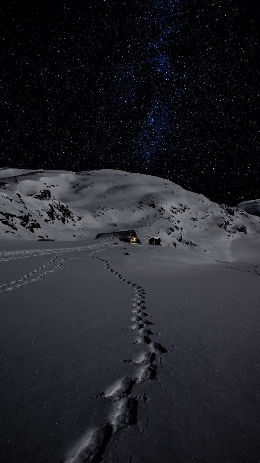 Nature Night Snow Mountains Id 46398 Hd Wallpapers Iphone Wallpaper Winter Winter Wallpaper Snow Wallpaper Iphone