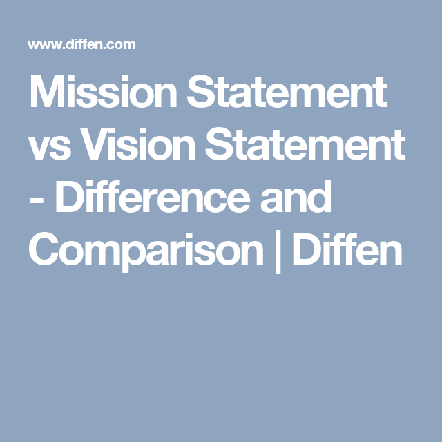 vision & mission difference