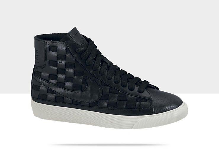nike blazer mid woven womens shoe black