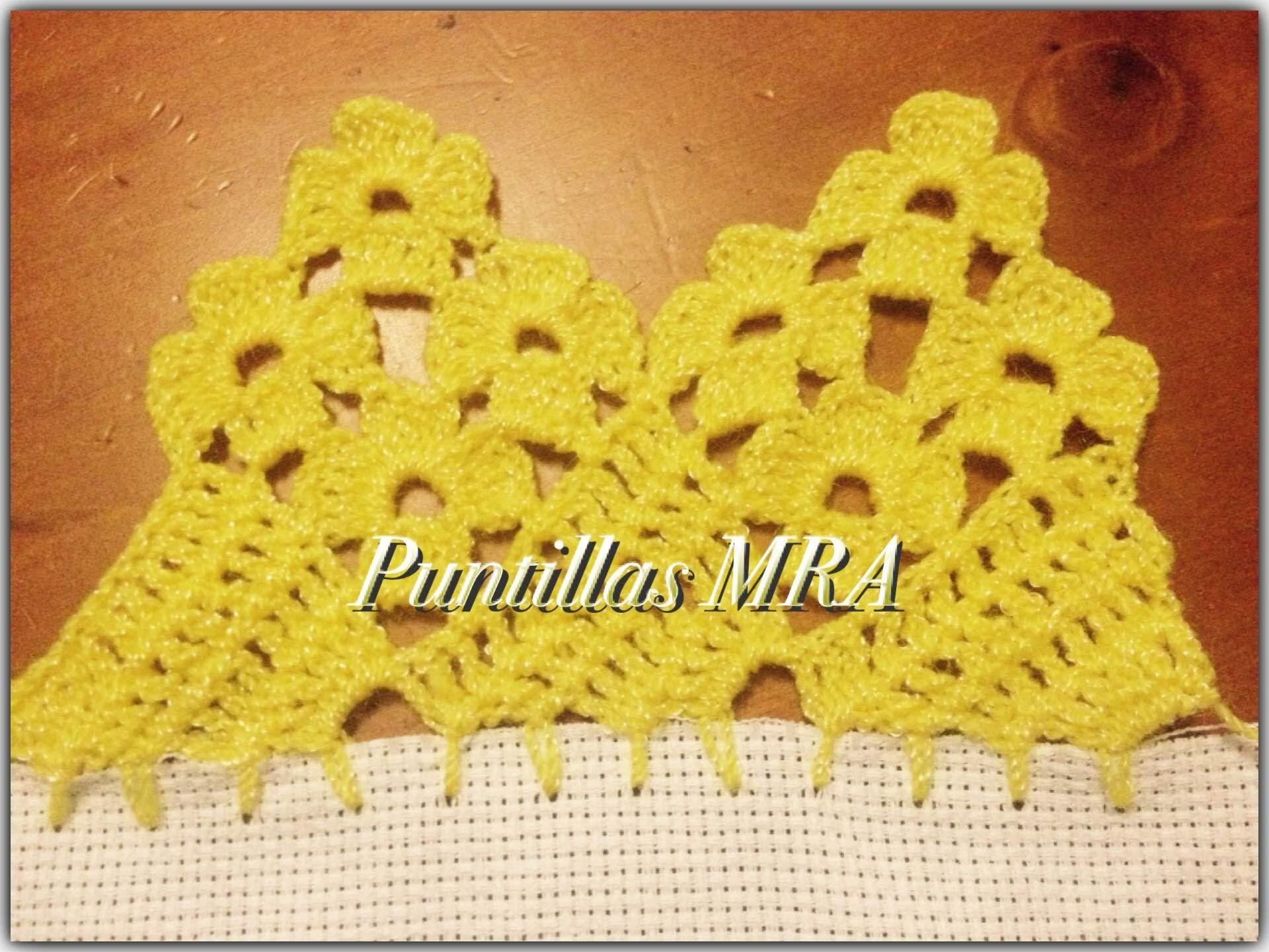 Puntilla para servilleta MRA 6 | Crochet Puntillas | Pinterest
