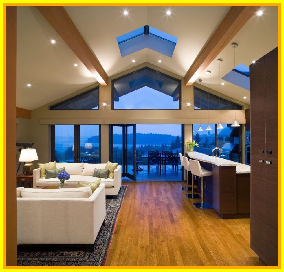 58 Reference Of Living Room Ceiling Lighting Ideas In 2020 Vaulted Ceiling Living Room Vaulted Ceiling Lighting Vaulted Ceiling Kitchen