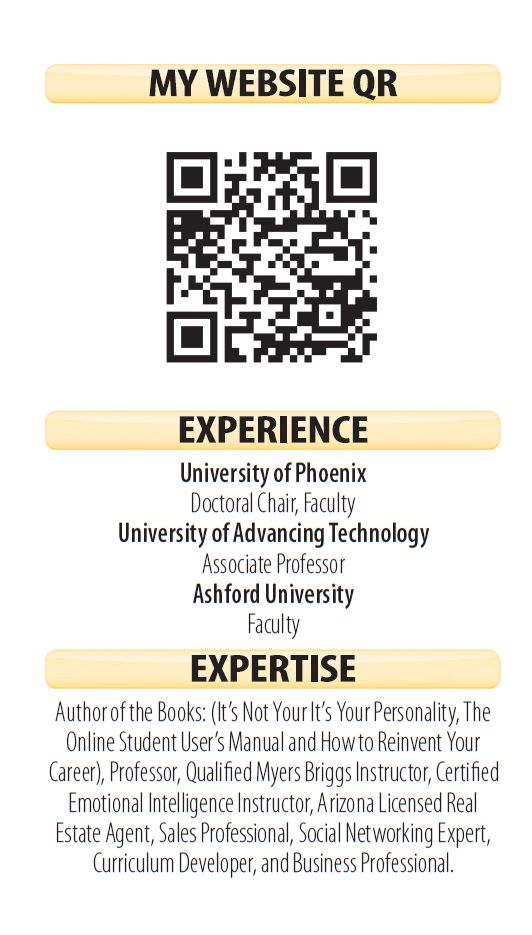 Stand Out In Job Market with Mini Resume Cards   Business cards and ...