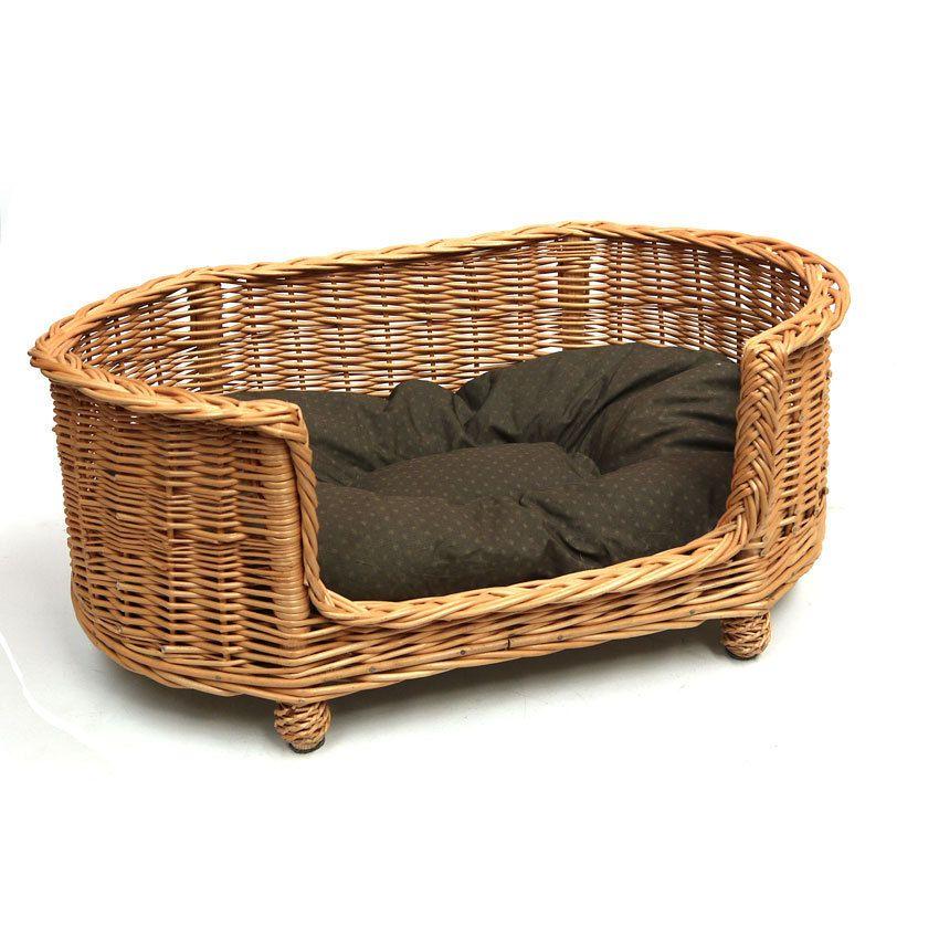 Luxury large wicker dog bed basket settee prestige