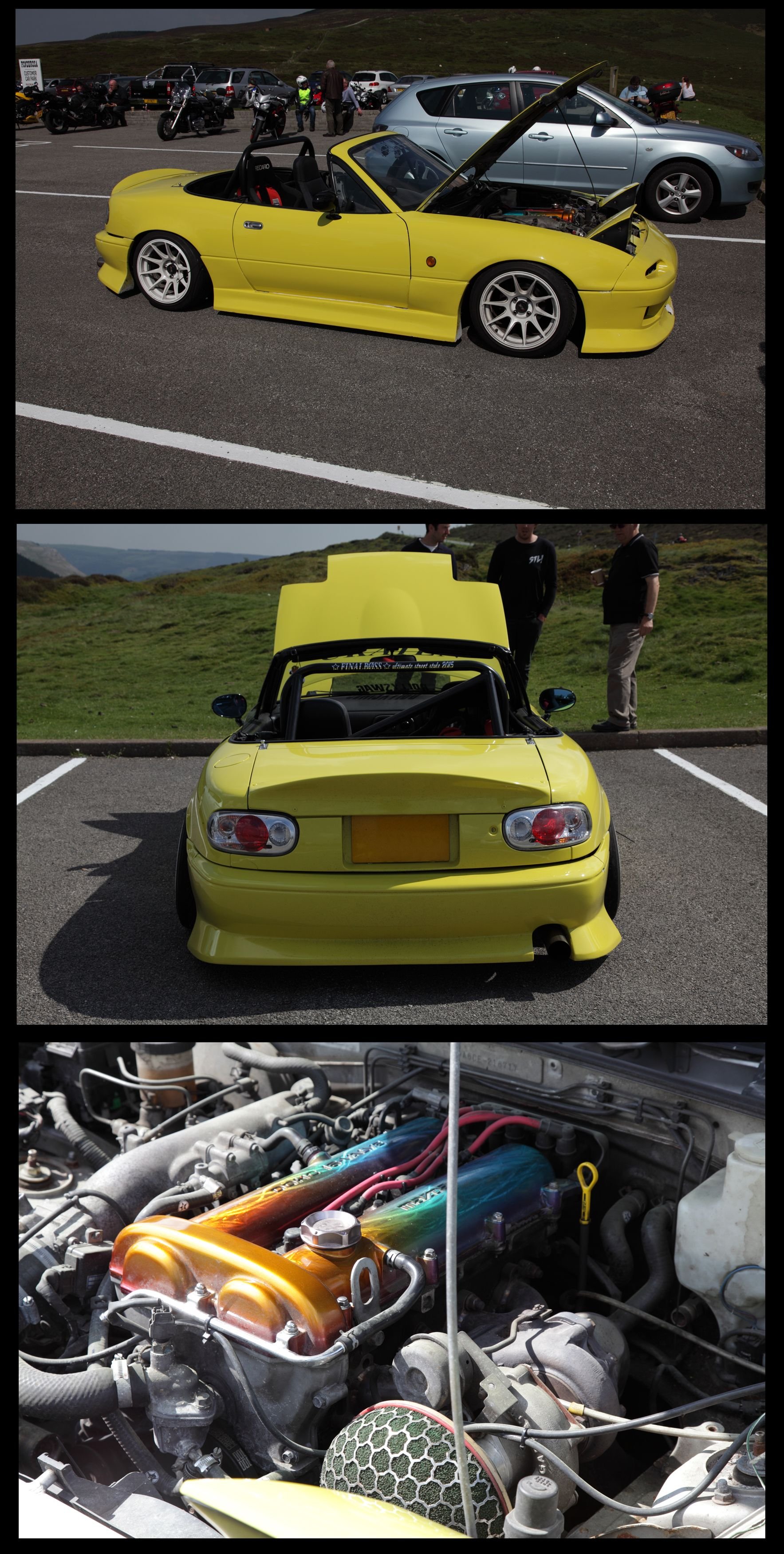 Ponderosa Café North Wales Awesome Mazda Mx5 In The Car Park Today Turbo Charged And Produced 186 Hp On The Dyno Lo Mazda Mx5 Car Parking Turbocharger