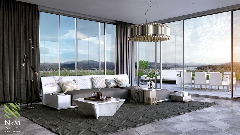 25 Moderne Wohnzimmer Mit Kuhlen Klaren Linien Wohnzimmerdeko