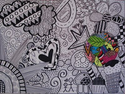Different Types Of Lines In Art Drawing : Doodle art line and pattern this one is by a grade i could
