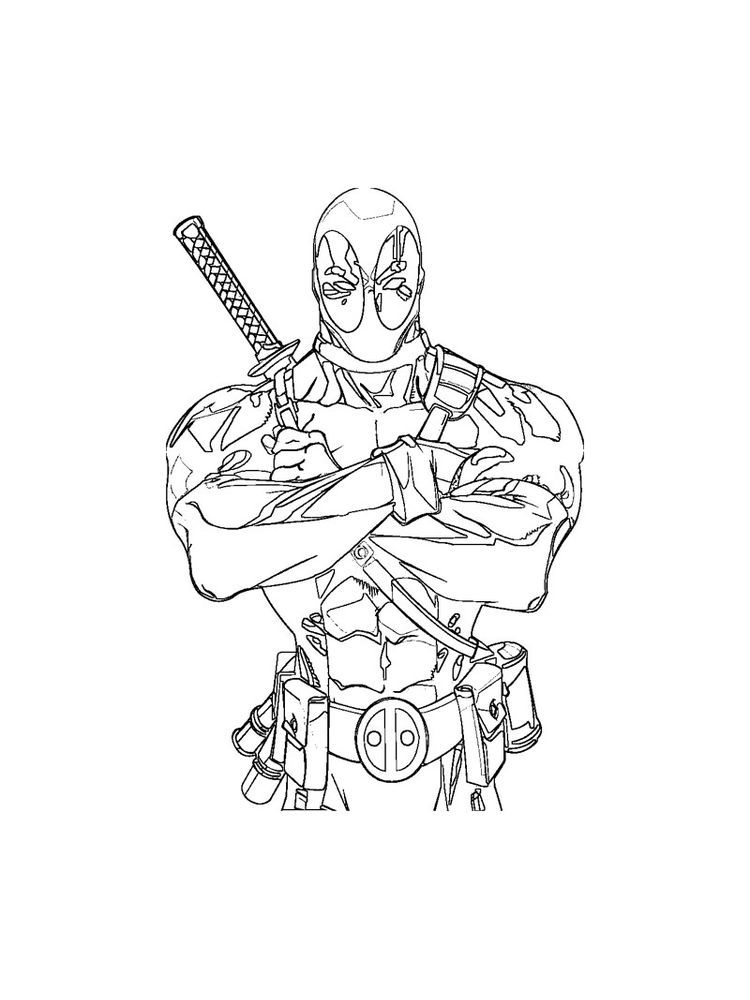 Baby Deadpool Coloring Pages Below Is A Collection Of Deadpool Coloring Page Which You Can Download For Coloring Pages Cartoon Coloring Pages Colouring Pages