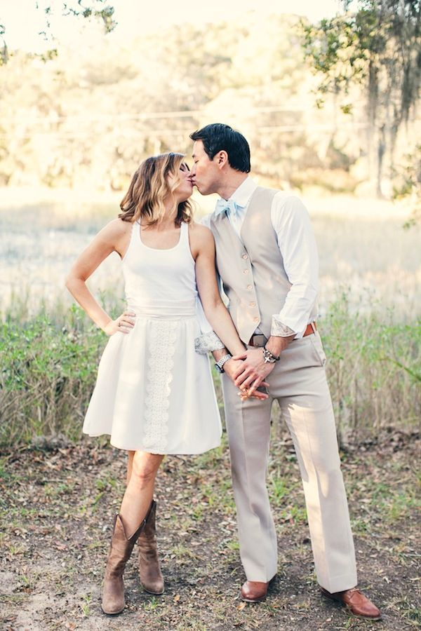 wedding-dresses-you-can-wear-with-cowboy-boots-bride-wearing ...