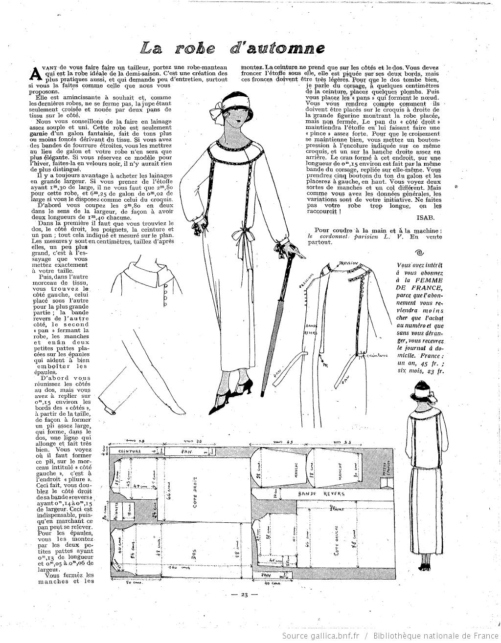 Les Modes de la femme de France | 1923-09-23 | Gallica | 1920\'s ...