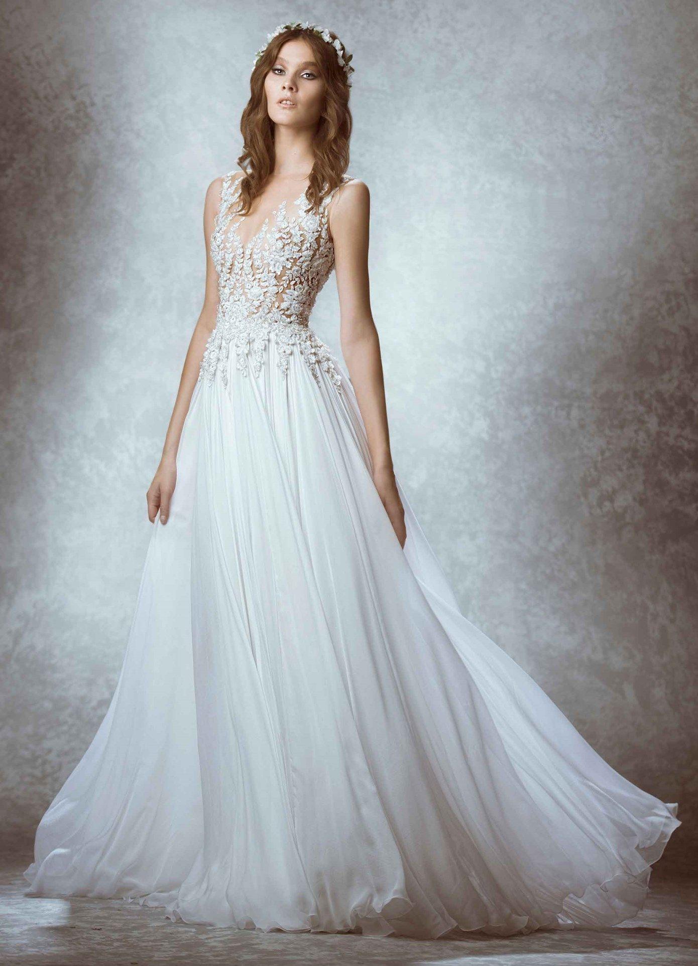 Zuhair Murad Manon-Front view Bridal Fall 15 | Wedding | Pinterest ...