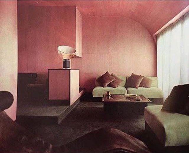 Pink dark grey olive sergio asti sergio favre 1966 for Inneneinrichtung farbkonzepte