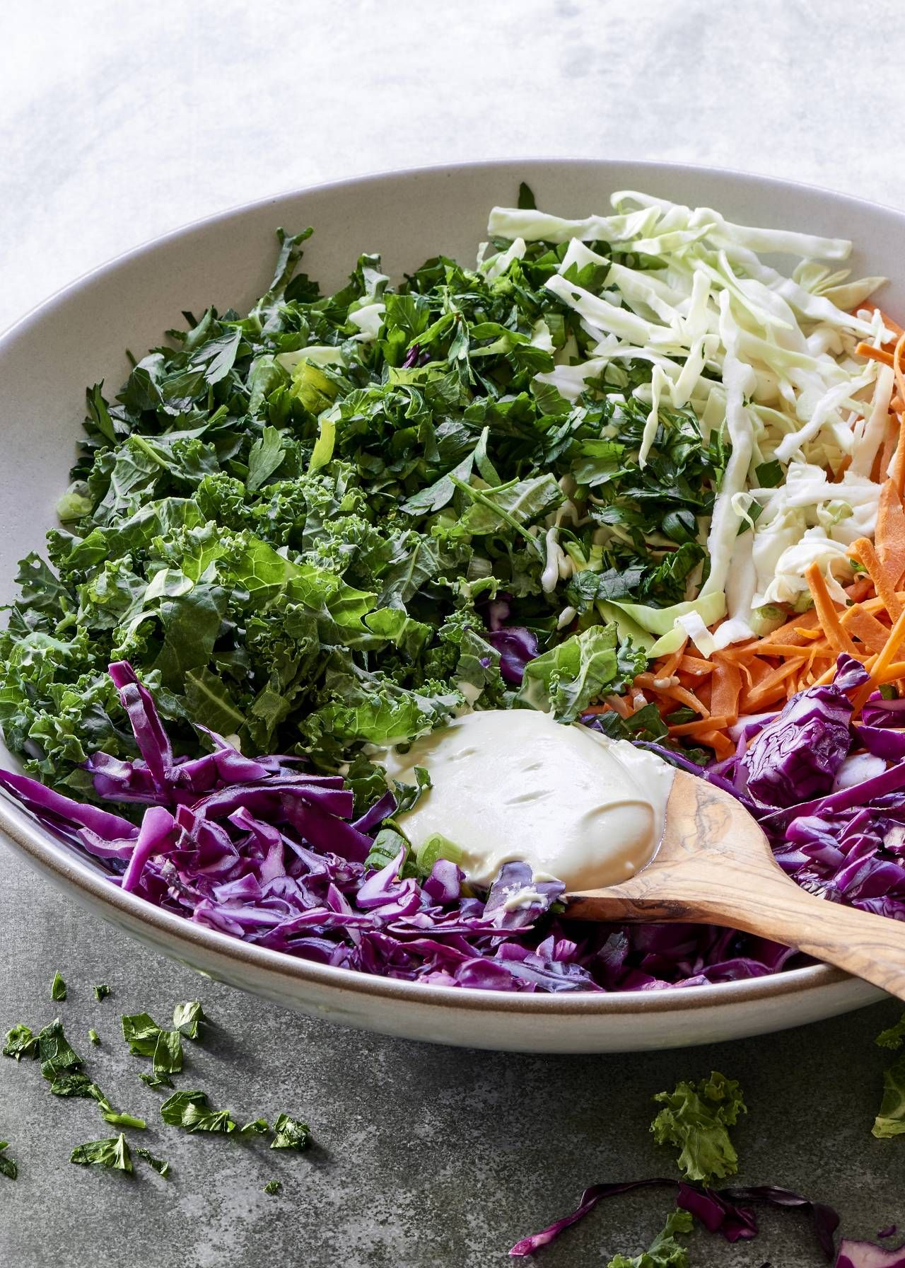 Cabbage And Kale Slaw The Blender Girl Kale Slaw Side Dish Recipes Healthy Gluten Free Sides Dishes