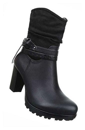 Damen Boots Mit Deko Frauen Stiefel Wadenhohe Stiefel Schuhe Lederoptik Schlupf Stiefel Kurzschaft Stiefel Stiefelette Frauen Stiefel Damen Boots Stiefel