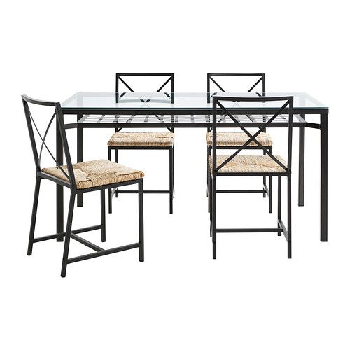 Ikea Black Dining Table And Chairs