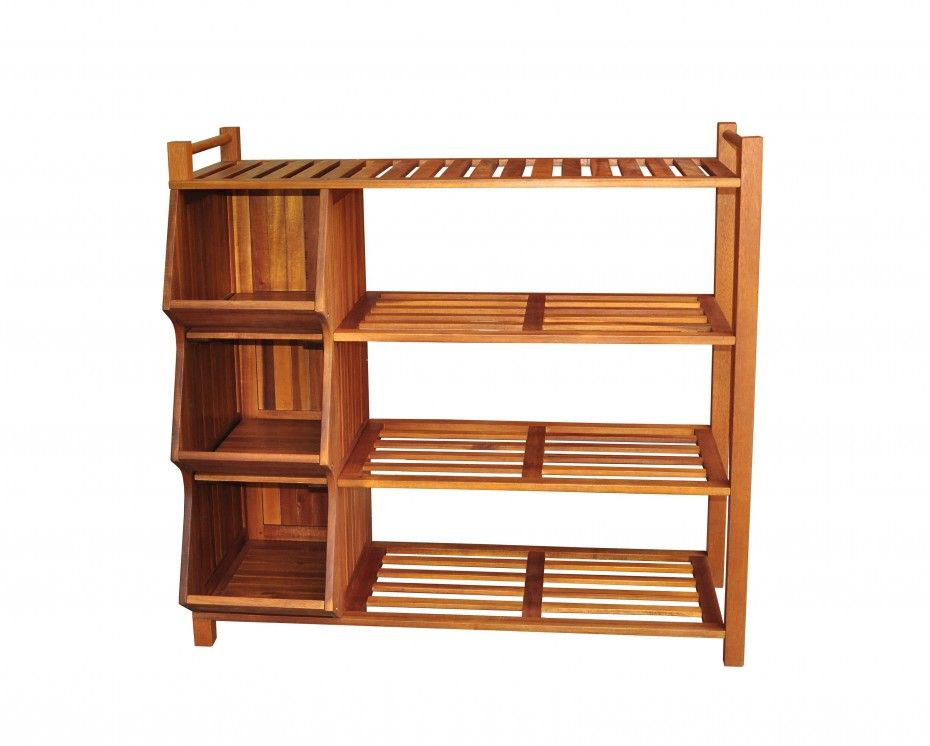 Outdoor Brown Wooden Shoe Storage Cabinet With Open Shelves With Craft Storage  Cabinets Plus Closet Storage