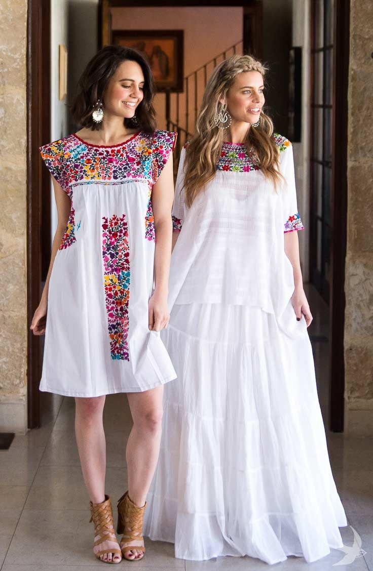 Embroidered Mexican Wedding Dress - Plus Size Dresses for Wedding ...