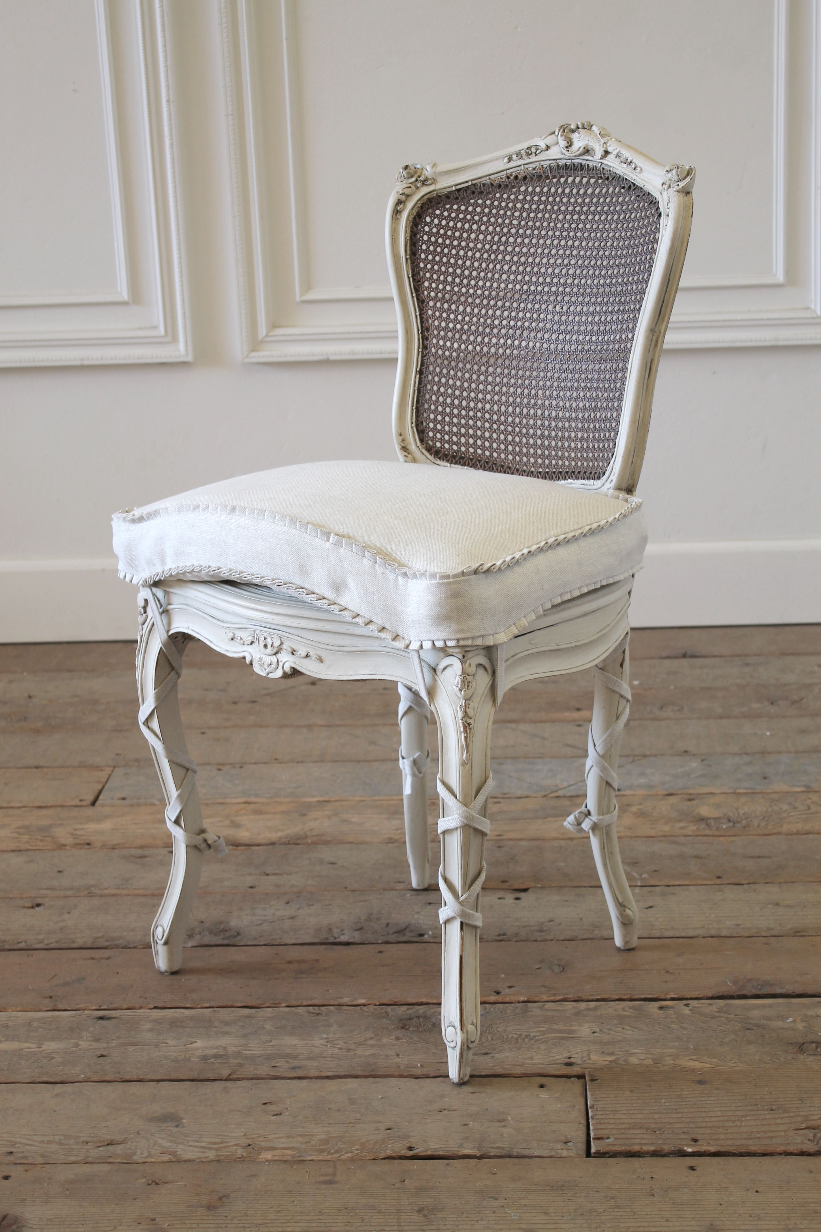 19th Century Wood And Cane Back French Country Style Vanity Chair 1 290 French Country Bathroom French Country Decorating French Country Bedrooms
