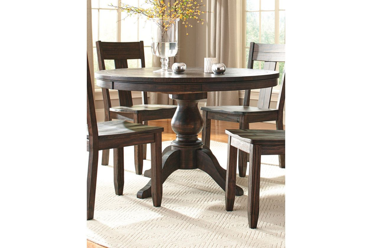 Trudell Round Dining Room Table Dark Brown Round Dining Room