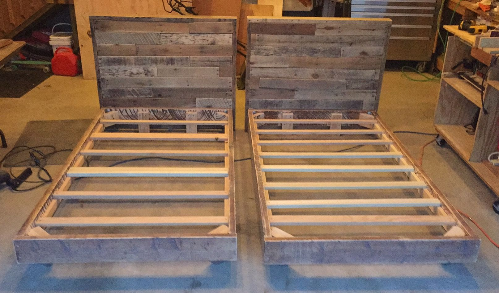 Twin Bed Frames And Pallet Headboards Diy Twin Bed Diy Bed