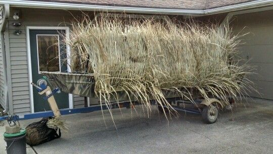 Grass Mats Added Side View Duck Boat Blind Duck Boat Duck Blind