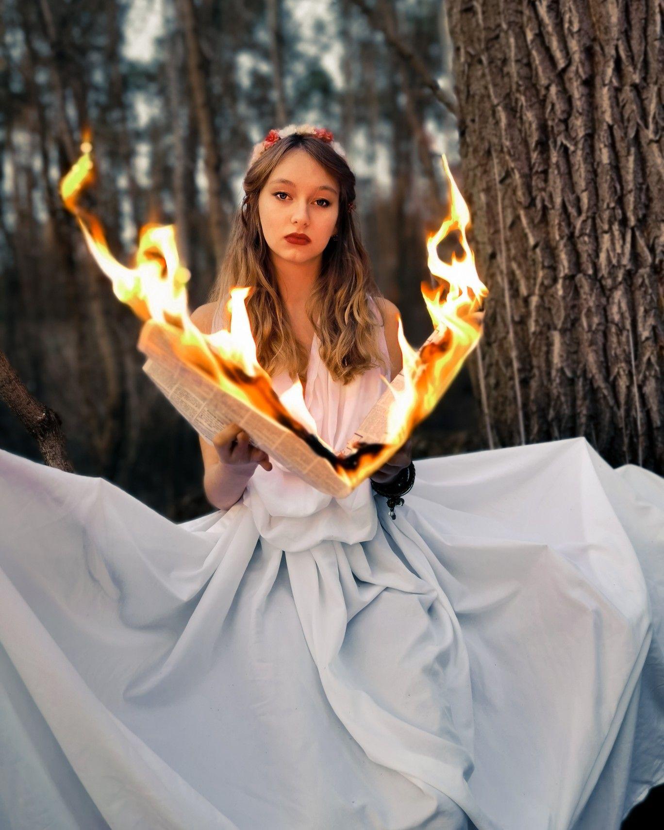 Фото с огнём kramer model