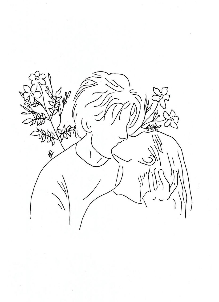 Poeticamente Flor Couples In Love For Line Drawings Requests