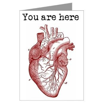 You are Here.... in my anatomically correct heart  Valentine Greeting Card