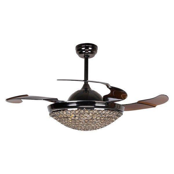 42 black ceiling fan with light damp 42 inch dimmable led crystal chandelier ceiling fan with lights and remote fandelier retractable blades mysterious black parrot uncle