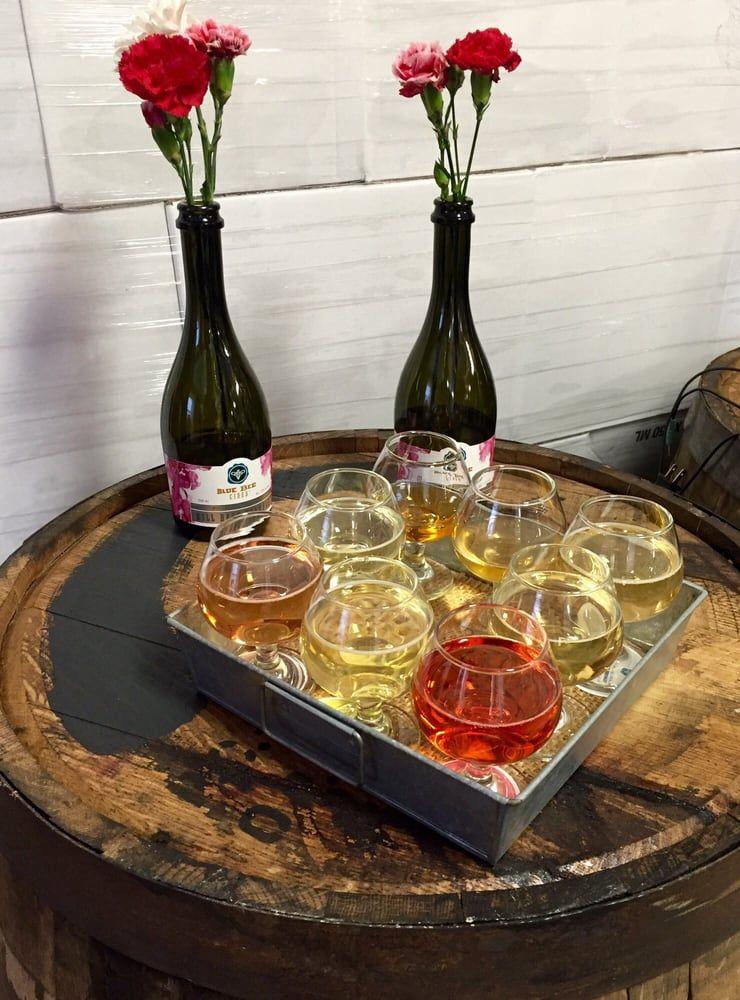 Blue bee cider richmond va wine flight perfect