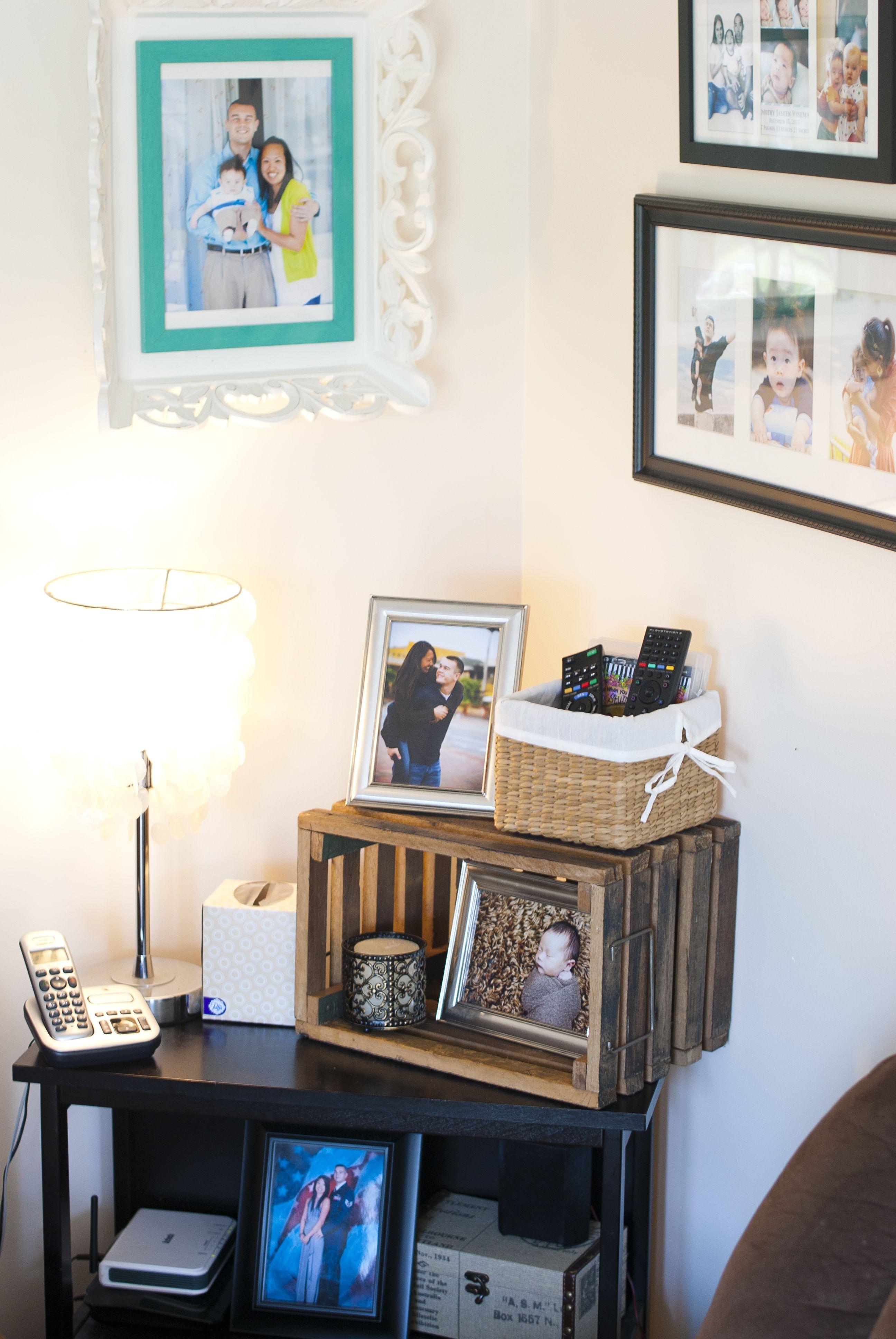 Corner shelf in living room | Corner shelves, Shelves ...