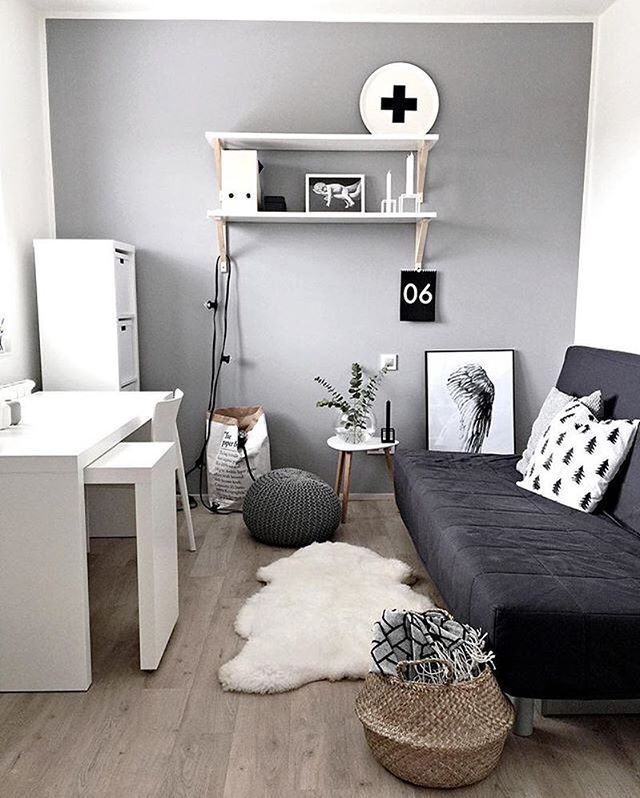 Scandi Minimal Workspace Via Workspacegoals On Instagram Guest Bedroom Office Small Guest Rooms Home Office Design