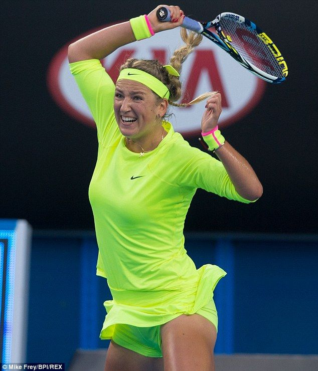 Tennis ace Victoria Azarenka had the crowd on their feet when she showed off her dancing s...