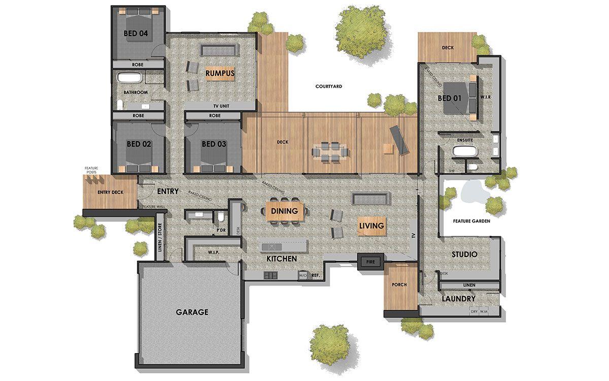Floor Plan Friday 4 Bedroom Rumpus Studio Floor Plans Home Addition Plans Dream House Plans