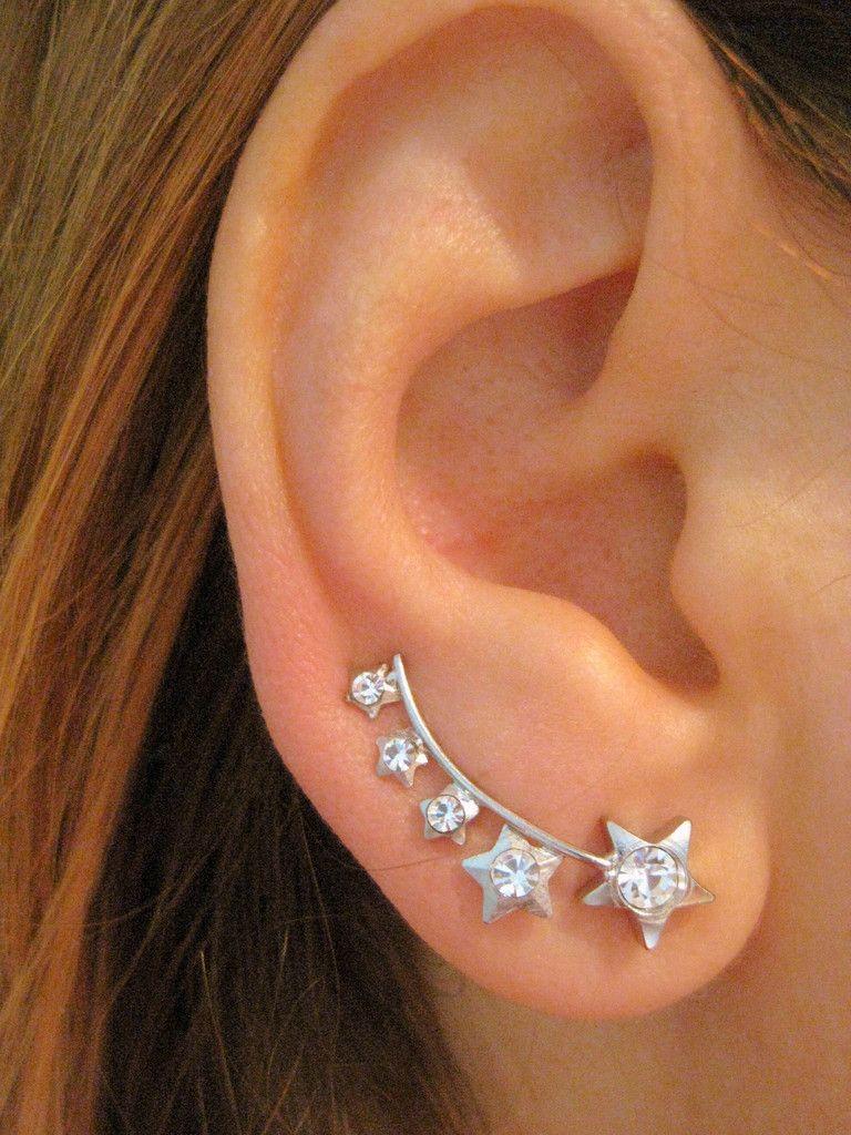 Start Ear Sweep Pin Wrap Cuff Earring Ear Climber
