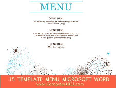 microsoft word templates menu