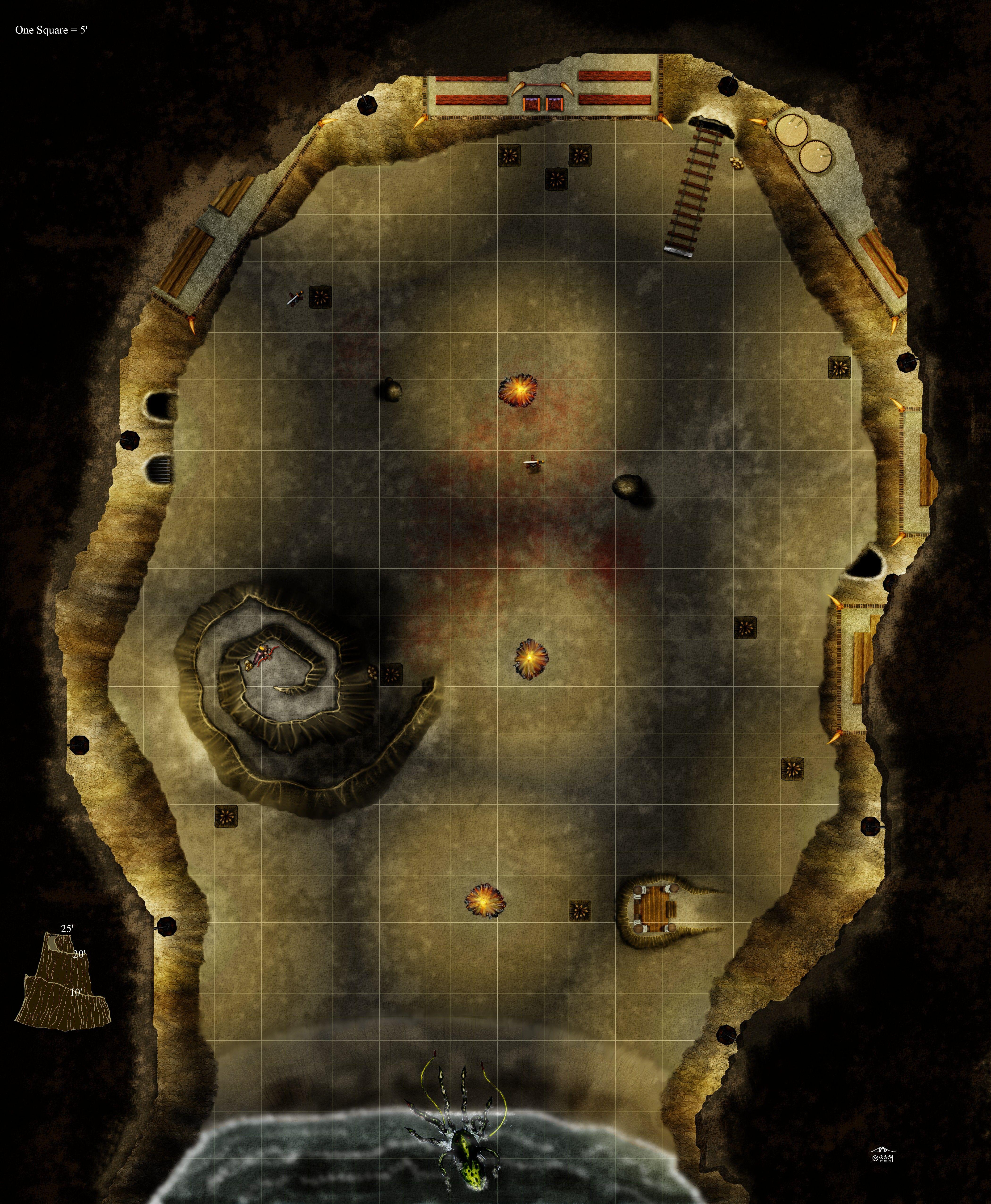 Arena Dnd Map : arena, Jaxilon-albums-battlemaps-picture44646-cavern-arena.jpg, (immagine, JPEG,, Pixel), Mapas, Dungeon,