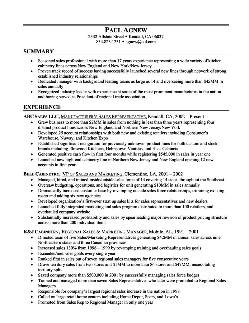 nice sample resumes for sales resume examples rep writing format