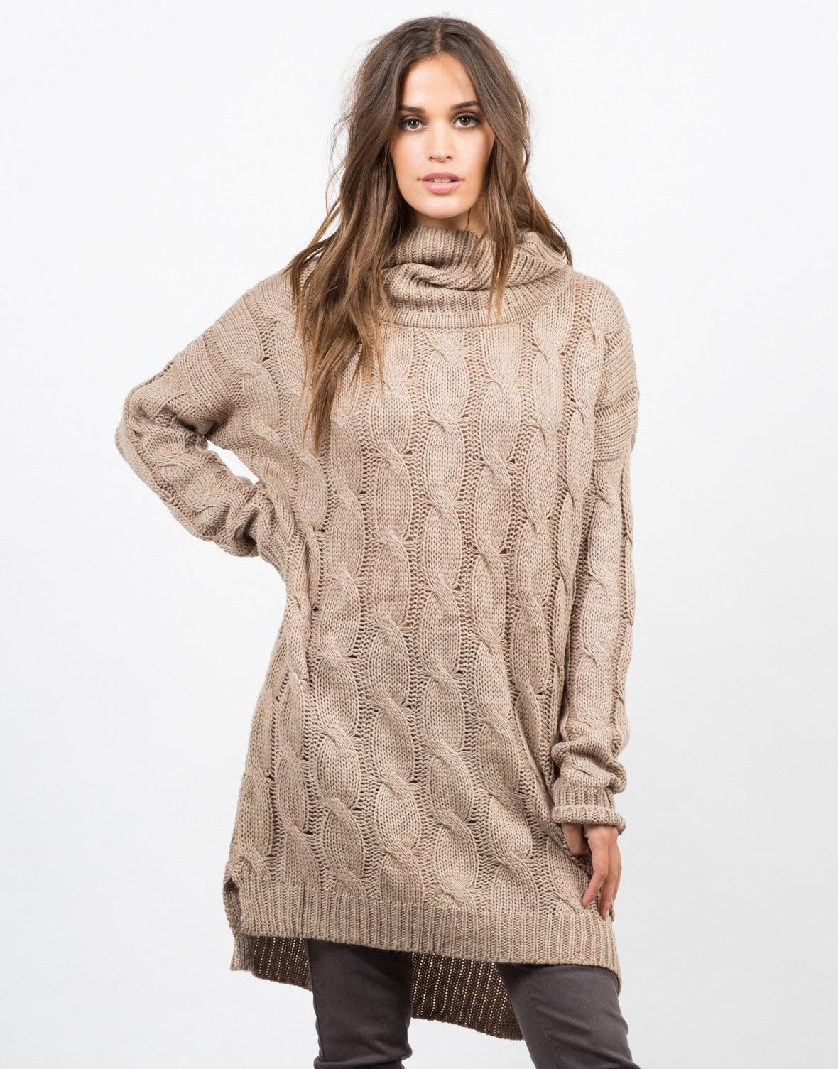 Chunky Turtleneck Sweater Dress | Winter fashion, Clothes and Clothing