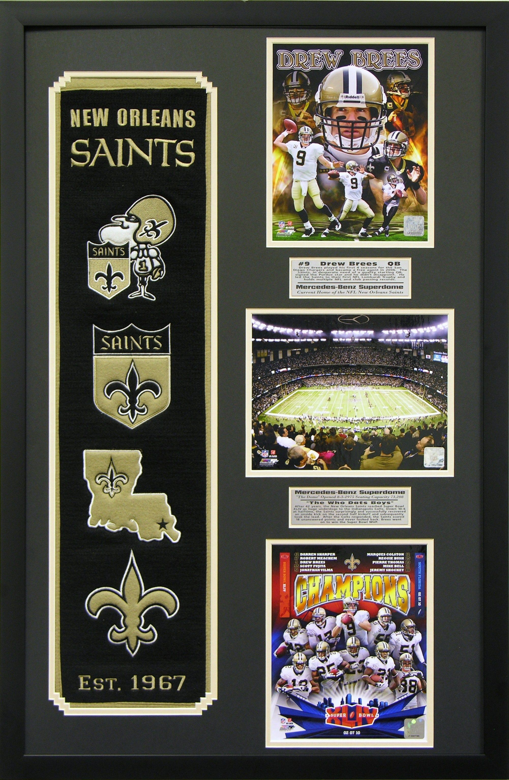 New Orleans Saints Heritage Wall Art Perfect Decor For A Man Cave Basement Or 1000 New Orleans Saints Man Cave Wall Art
