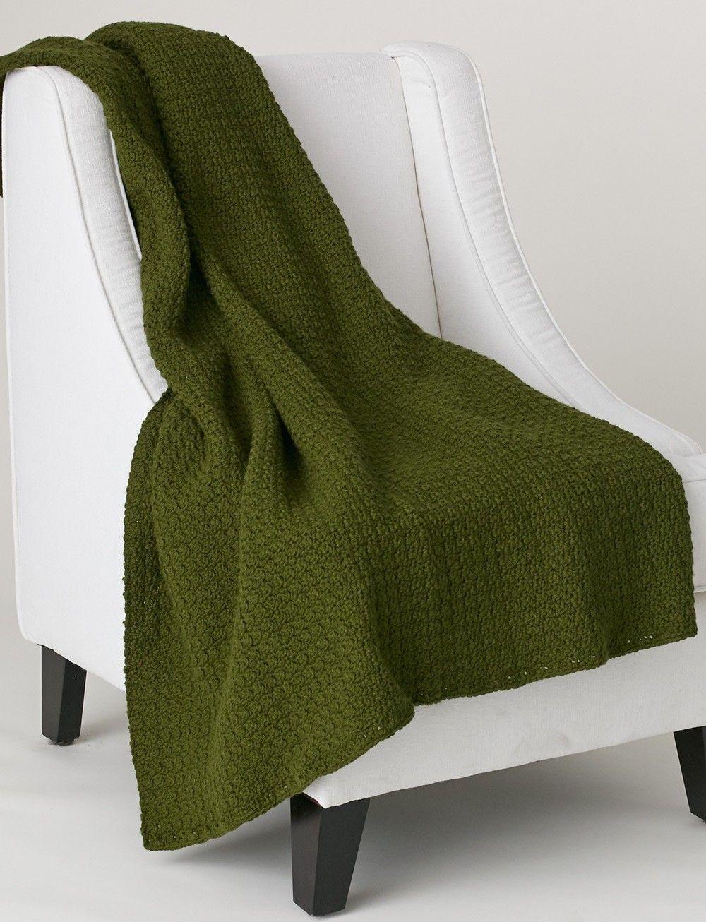 Evergreen Crochet Throw