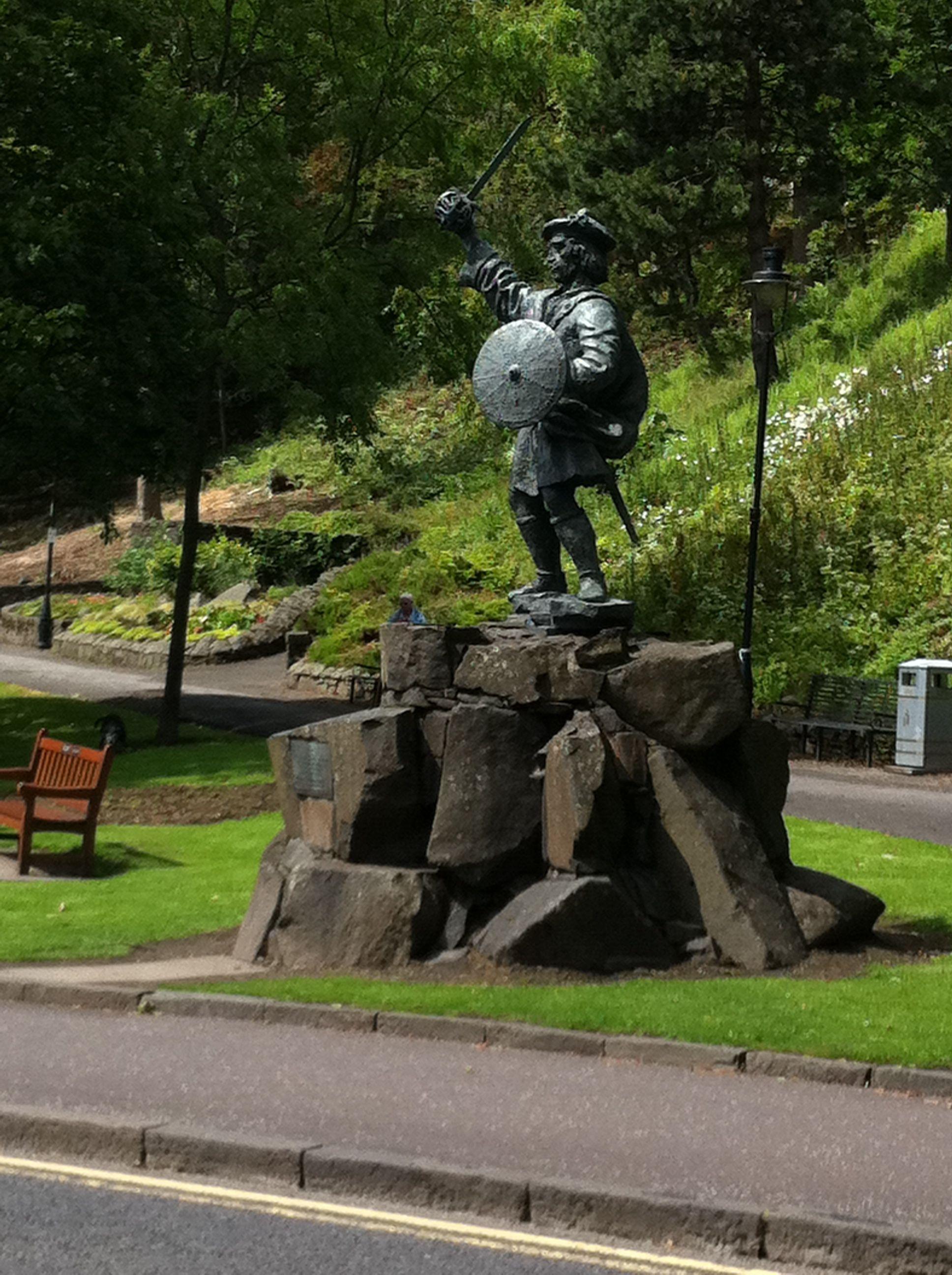 Highlander statue, Stirling Scotland Scotland travel