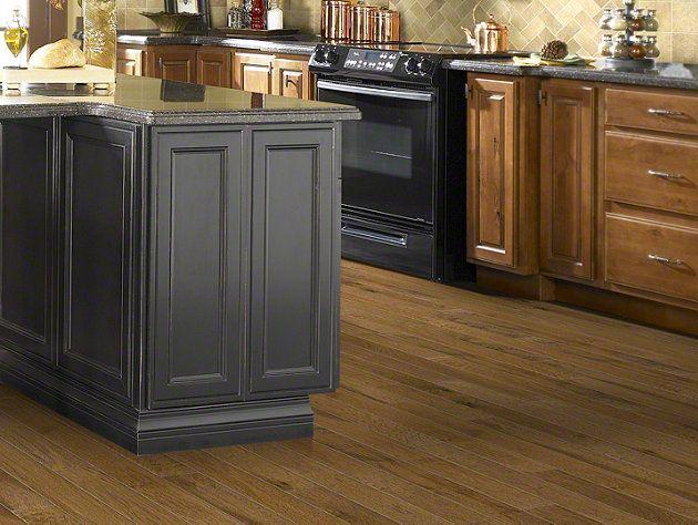 Hardwood pebble hill hickory 5 sw219 warm sunset for Warm kitchen flooring