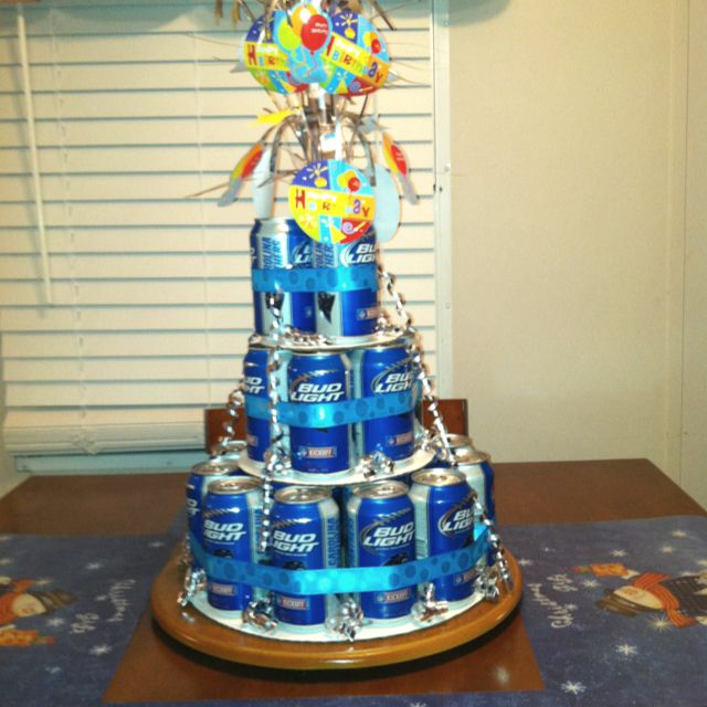 Beer can cake | Birthday Party ideas | Pinterest