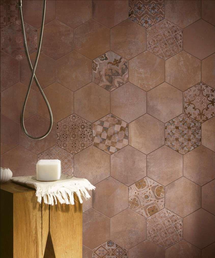 Pavimenti In Vetro Per Esterni arredare il bagno con le cementine | arredamento, piastrelle