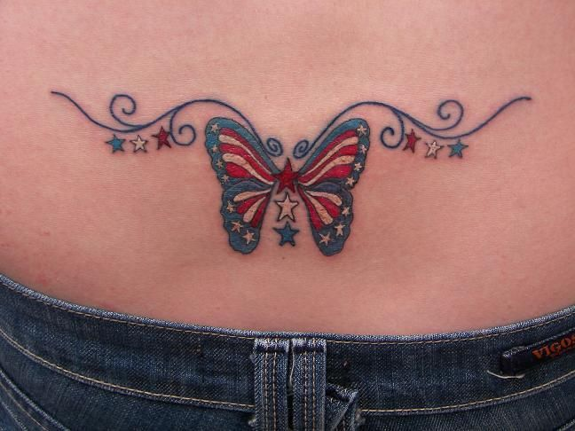 Patriotic Butterfly Tattoo Image. *** Discover more by checking out the photo