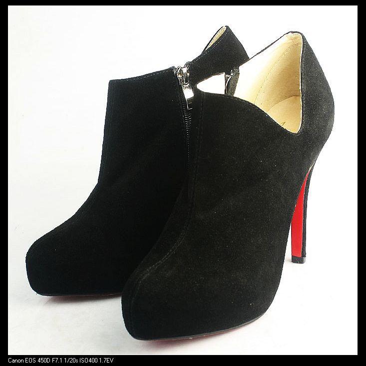 promo code e8ea4 88ab7 Christian Louboutin Black Suede Ankle Boots | Christian ...