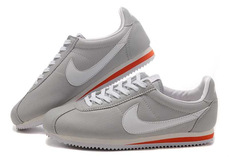 wholesale get new multiple colors Visit New UK Nike Cortez Leather Men Shoes Gray White Red ...