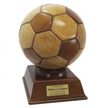Wooden Soccer Ball Cremation Urn Drechseln