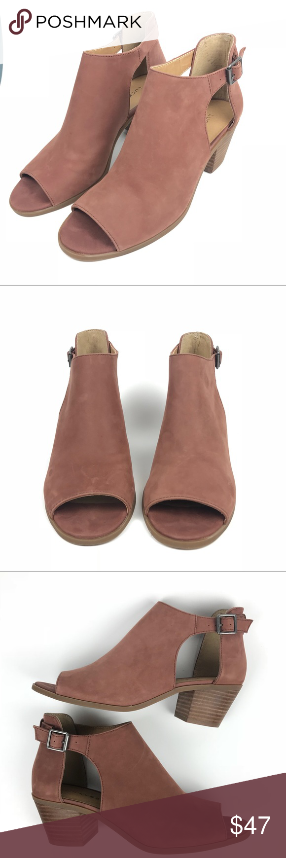 dde4c5da75a3 Lucky Brand Barimo Leather Peep Toe Ankle Booties Lucky Brand Barimo  Leather Peep Toe Ankle Booties 🛍Offers are welcome🛍 Size 7.5 ⚪ Good  Condition ...