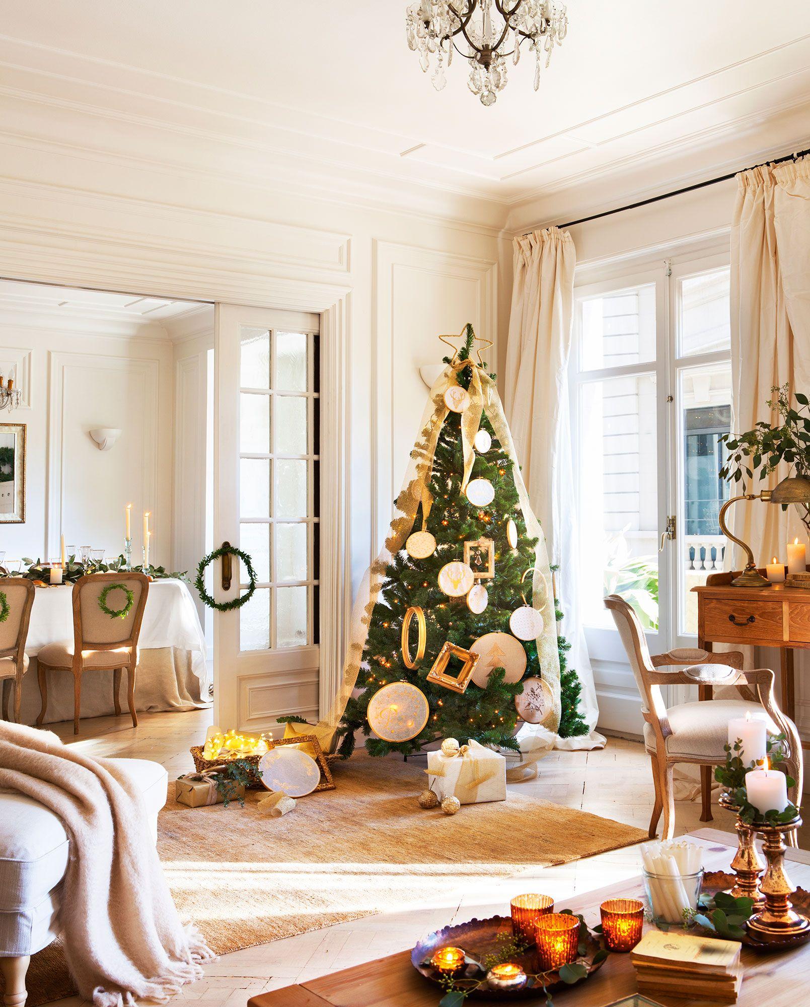 Navidad 15 ideas para decorar de fiesta tu casa rboles for Salones decorados para navidad